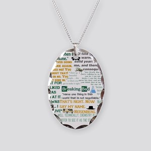 Walter White Quotes Necklace Oval Charm