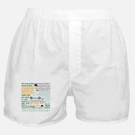 Walter White Quotes Boxer Shorts