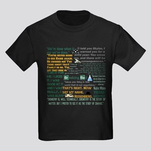 Walter White Quotes Kids Dark T-Shirt