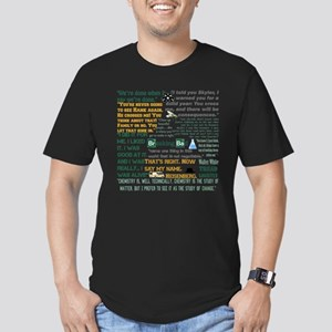 Walter White Quotes Men's Fitted T-Shirt (dark)
