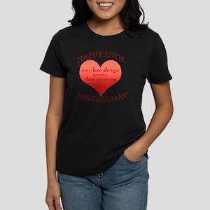 55th. Anniversary Women's Dark T-Shirt