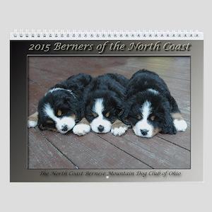 2015 Bernese Mountain Dog Wall Calendar