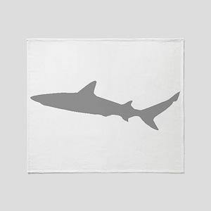 Grey Shark Throw Blanket