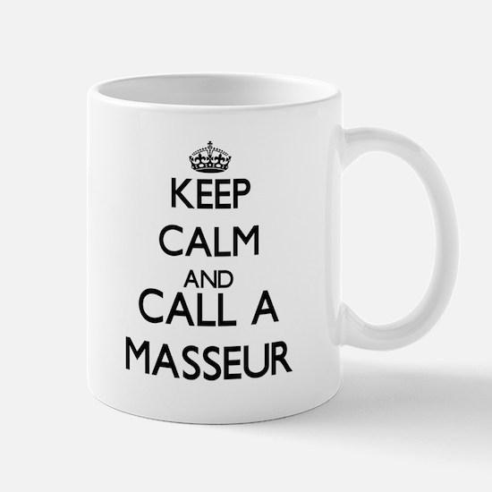 Keep calm and call a Masseur Mugs