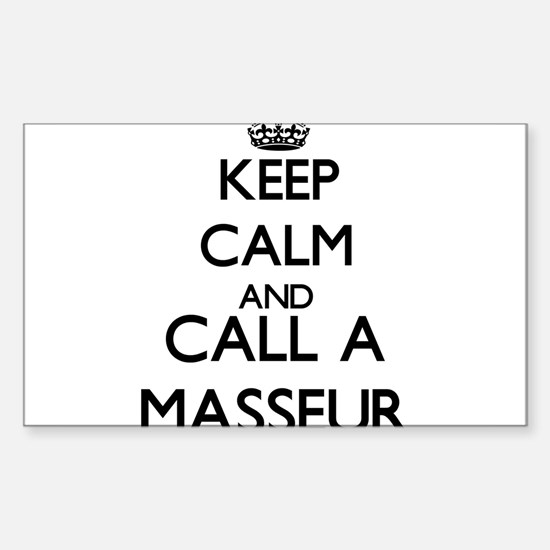 Keep calm and call a Masseur Decal
