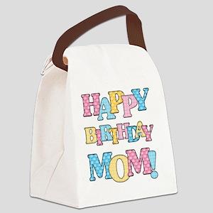 Happy Birthday Mom Canvas Lunch Bag