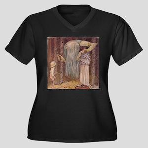 Troll Herb Women's Plus Size V-Neck Dark T-Shirt