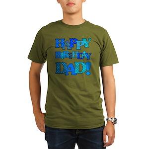Happy Birthday Daddy Mens Organic Classic T Shirts
