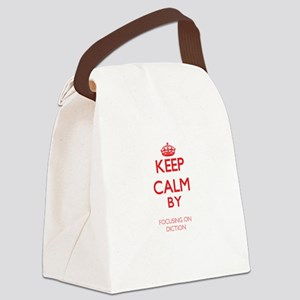 Keep Calm by focusing on Diction Canvas Lunch Bag