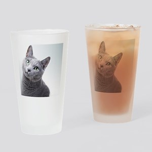 russian blue cat Drinking Glass