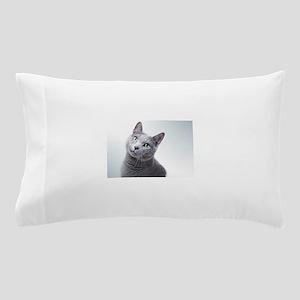 russian blue cat Pillow Case