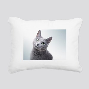 russian blue cat Rectangular Canvas Pillow
