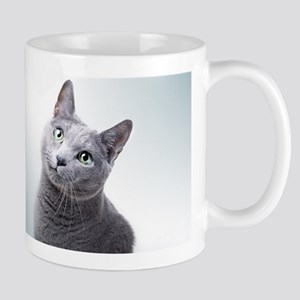russian blue cat Mugs