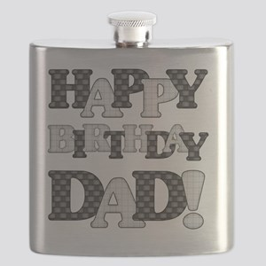Happy Birthday Dad Flask