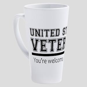 United States Veteran DD214 17 oz Latte Mug