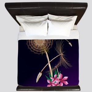 Dandelions-First Seeds And Flowers King Duvet