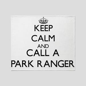 Keep calm and call a Park Ranger Throw Blanket
