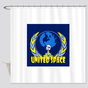 United Space Shower Curtain