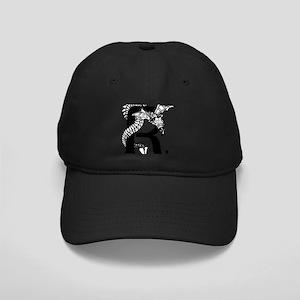 Black and White Dragon Letter R Baseball Hat