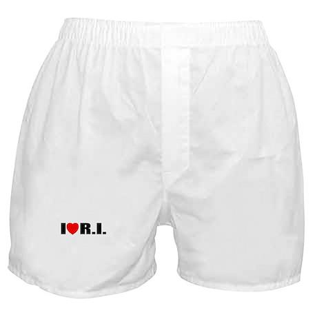 I Love Rhode Island Boxer Shorts