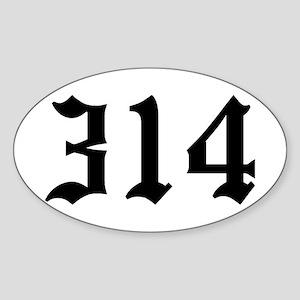 """314"" Oval Sticker"