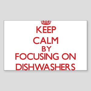 Keep Calm by focusing on Dishwashers Sticker