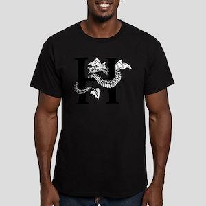 Black and White Dragon Letter H T-Shirt