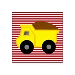 Red White Striped Dump Truck Sticker
