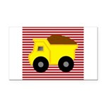 Red White Striped Dump Truck Rectangle Car Magnet