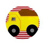 Red White Striped Dump Truck 3.5