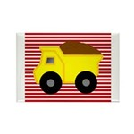 Red White Striped Dump Truck Magnets