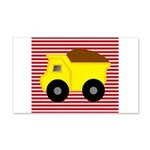 Red White Striped Dump Truck Wall Decal