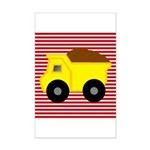 Red White Striped Dump Truck Posters
