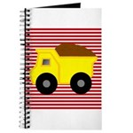 Red White Striped Dump Truck Journal
