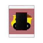 Red White Striped Dump Truck Picture Frame