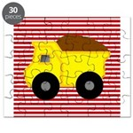 Red White Striped Dump Truck Puzzle