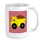 Red White Striped Dump Truck Mugs