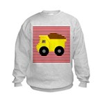 Red White Striped Dump Truck Sweatshirt