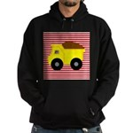 Red White Striped Dump Truck Hoodie