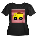 Red White Striped Dump Truck Plus Size T-Shirt