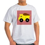 Red White Striped Dump Truck T-Shirt