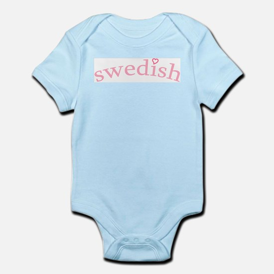 """Swedish with Heart"" Infant Bodysuit"