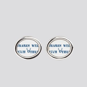 Shares well with others Oval Cufflinks