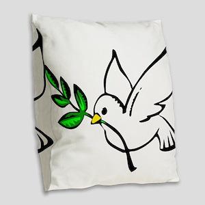 Peace Burlap Throw Pillow