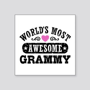 """World's Most Awesome Grammy Square Sticker 3"""" x 3"""""""