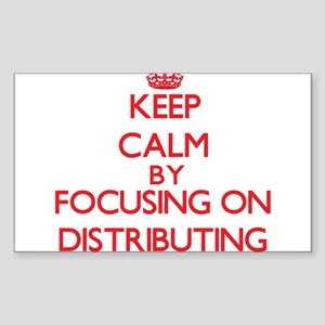 Keep Calm by focusing on Distributing Sticker