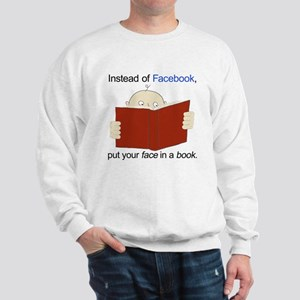 Face in a Book Sweatshirt
