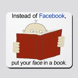 Face in a Book Mousepad