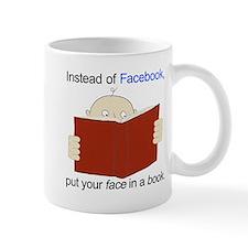 Face in a Book Mugs