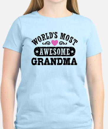 World's Most Awesome Grandma Women's Light T-Shirt